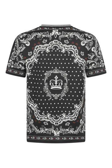 Boys Cotton Bandana Print T-Shirt