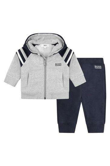 Baby Boys Navy Tracksuit