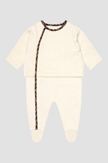 Baby Beige Sleepsuit Gift Set