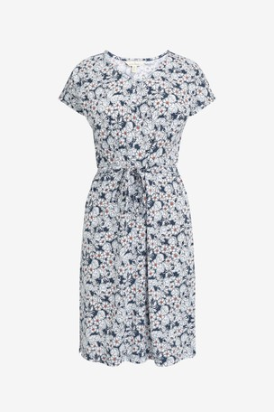 EX SEASALT Navy Frost Stones Marine Field Poppy Dress Sizes 20 or 26 RRP £55