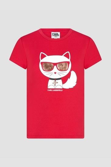 Girls Red T-Shirt