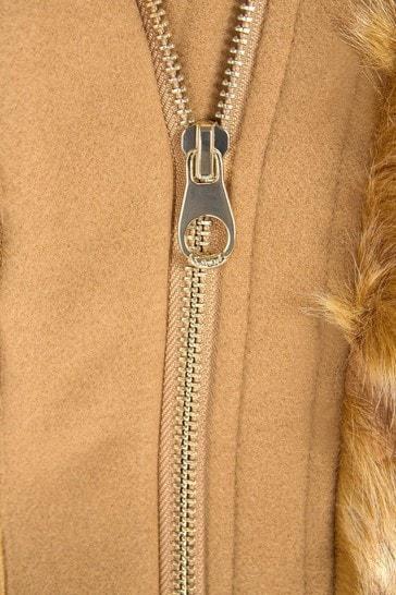 Girls Camel Coat