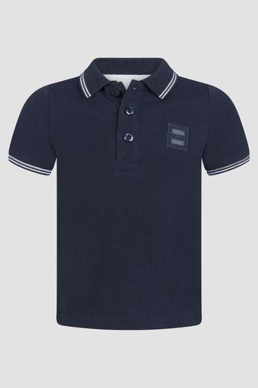 Baby Boys Navy Polo Shirt