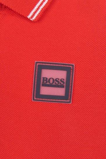Baby Boys Red Polo Shirt