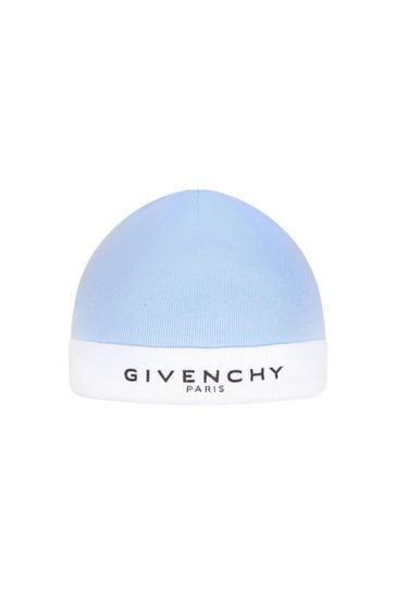 Baby Boys Blue/White Hat Set
