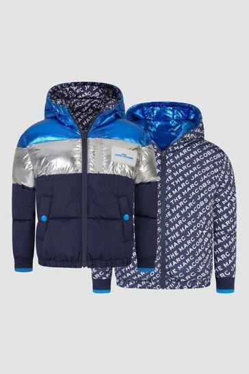 Boys Navy Reversible Jacket