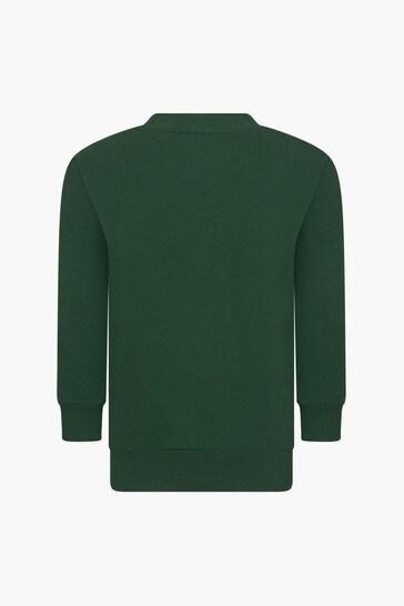 Boys Green Sweat Top