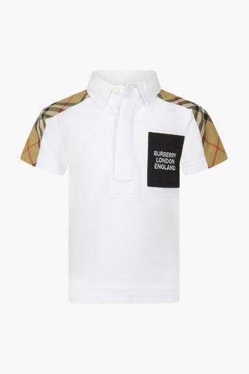 Baby Boys White Polo Shirt