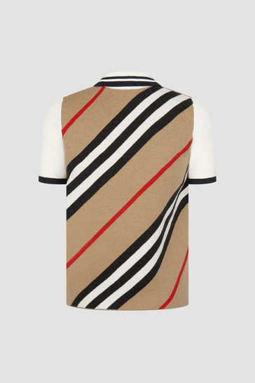 Boys Beige Polo Shirt
