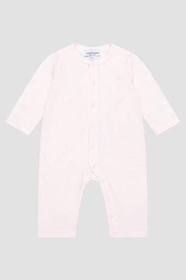 Baby Girls Pink Rompersuit Set