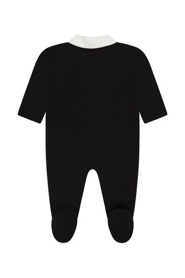 Roberto Cavalli Baby Boys Black Sleepsuit
