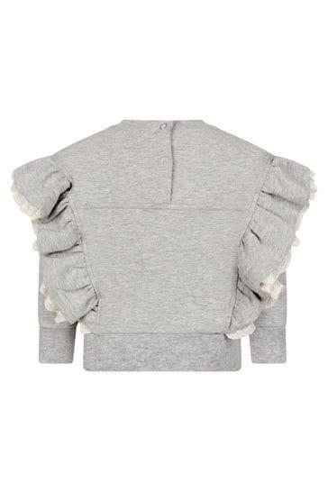 Monnalisa Baby Girls Grey Sweat Top