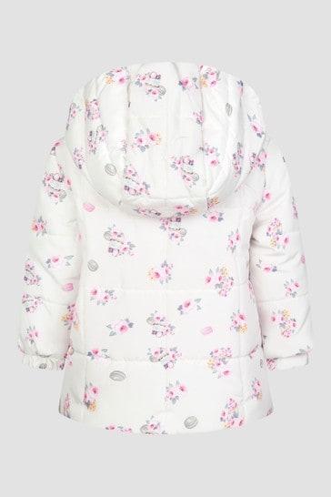 Monnalisa Baby Girls Ivory Jacket