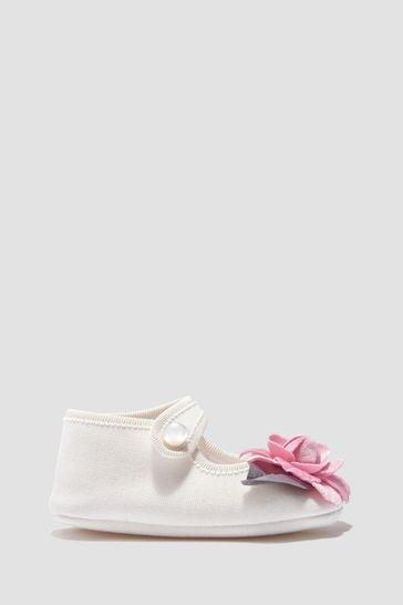 Monnalisa Baby Girls Cream Shoes