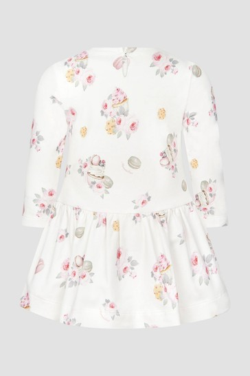 Monnalisa Baby Girls Ivory Dress