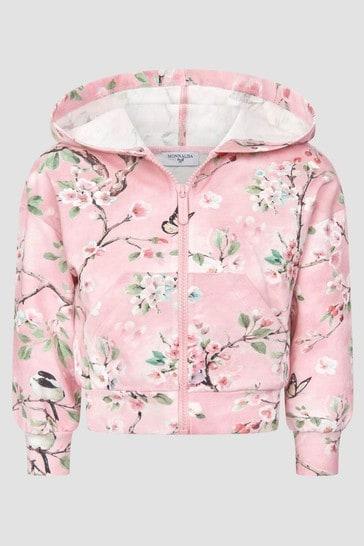 Monnalisa Girls Pink Sweat Top