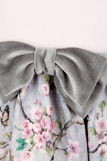 Monnalisa Girls Grey Dress