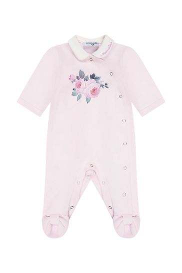Monnalisa Baby Girls Pink Sleepsuit