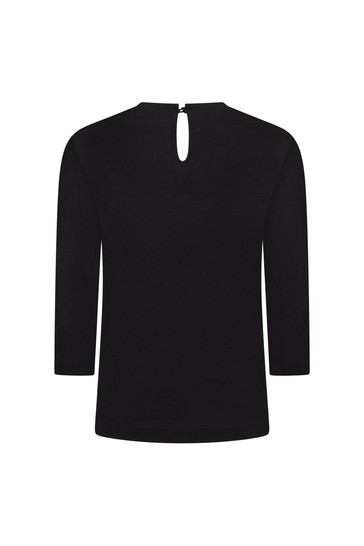 Monnalisa Girls Black T-Shirt