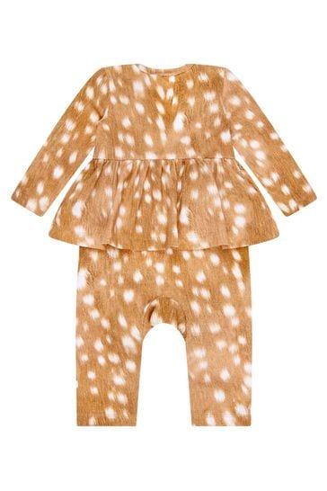 Baby Girls Brown Rompersuit
