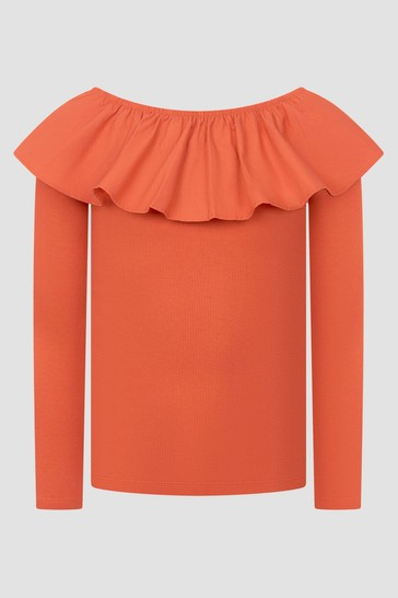 Girls Red Long Sleeve T-Shirt
