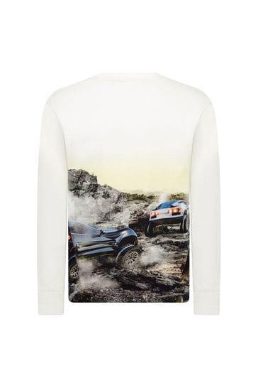Boys Cream Long Sleeve T-Shirt