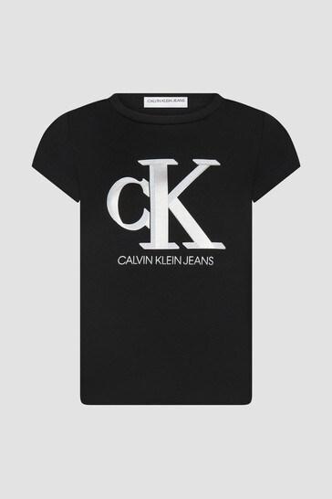 Girls Black Sweat T-Shirt