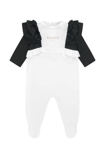Baby Girls Black Sleepsuit