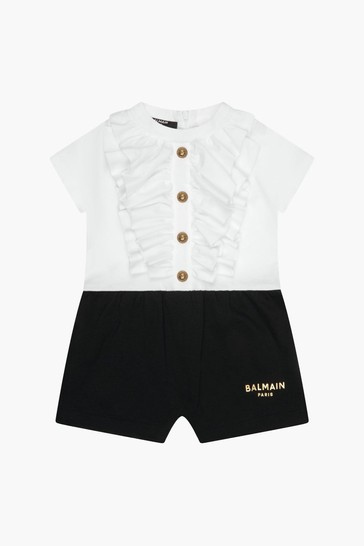 Baby Girls White Rompersuit