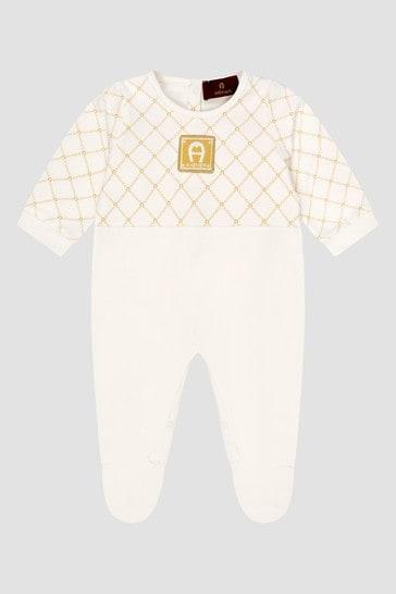 Baby White Sleepsuit Gift Set