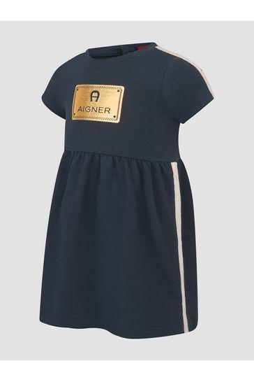 Baby Girls Navy Dress