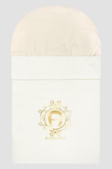 Baby Girls White Sleep Bag