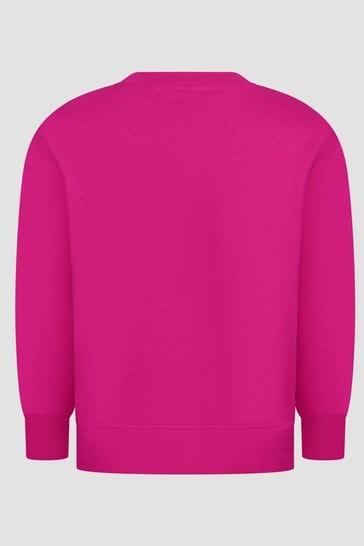 Girls Fuchsia Pink Sweat Top