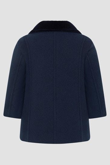 Boys Navy Coat