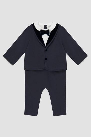 Baby Boys Navy Rompersuit