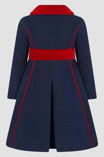 Girls Navy Coat
