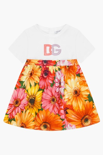 Baby Girls Floral Multicoloured Dress