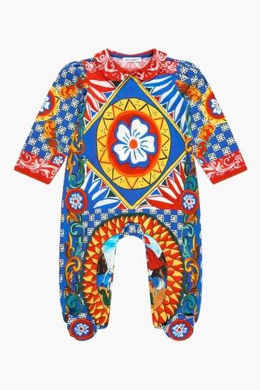 Baby Girls Multi Sleepsuit