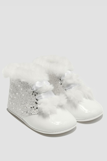 Baby Girls White Boots