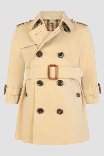 Baby Girls Beige Coat