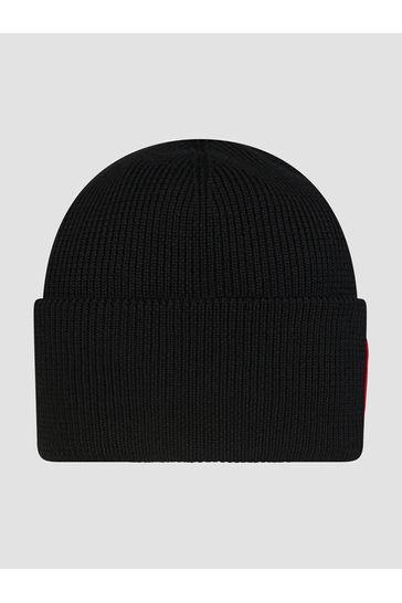 Kids Black Arctic Disc Toque Hat