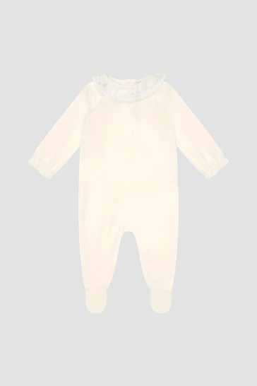 Baby Girls Cream Sleepsuit