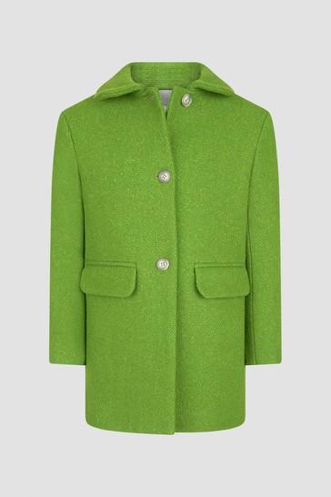 Girls Green Coat