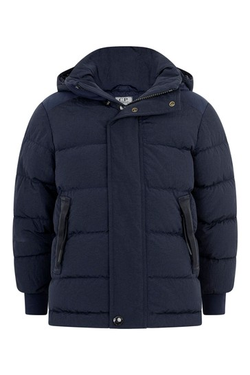 소년 해군 다운 패딩 고글 재킷