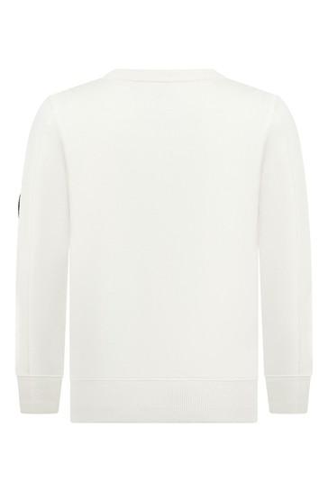 보이즈 멜란지 코튼 크루 넥 스웨터