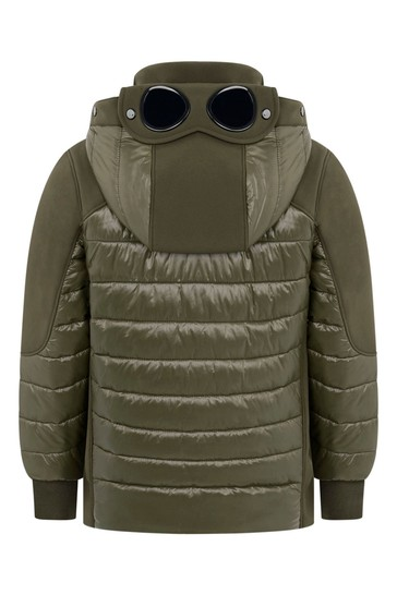 Boys Green Padded Hybrid Jacket