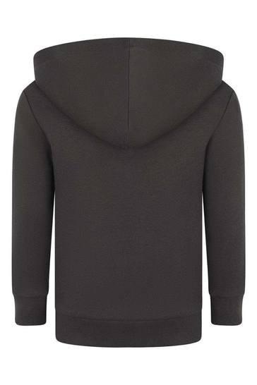 Kids Charcoal Cotton Hooded Sweater