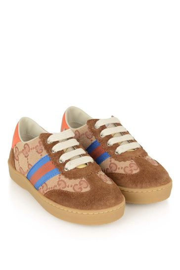 Boys Brown GG Logo Trainers
