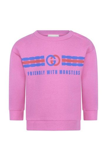 Baby Girls Cotton Logo Sweater