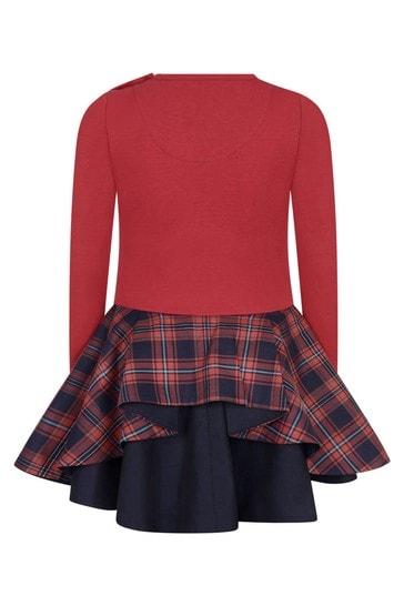 فستان أحمر مربعات طارطانبناتي